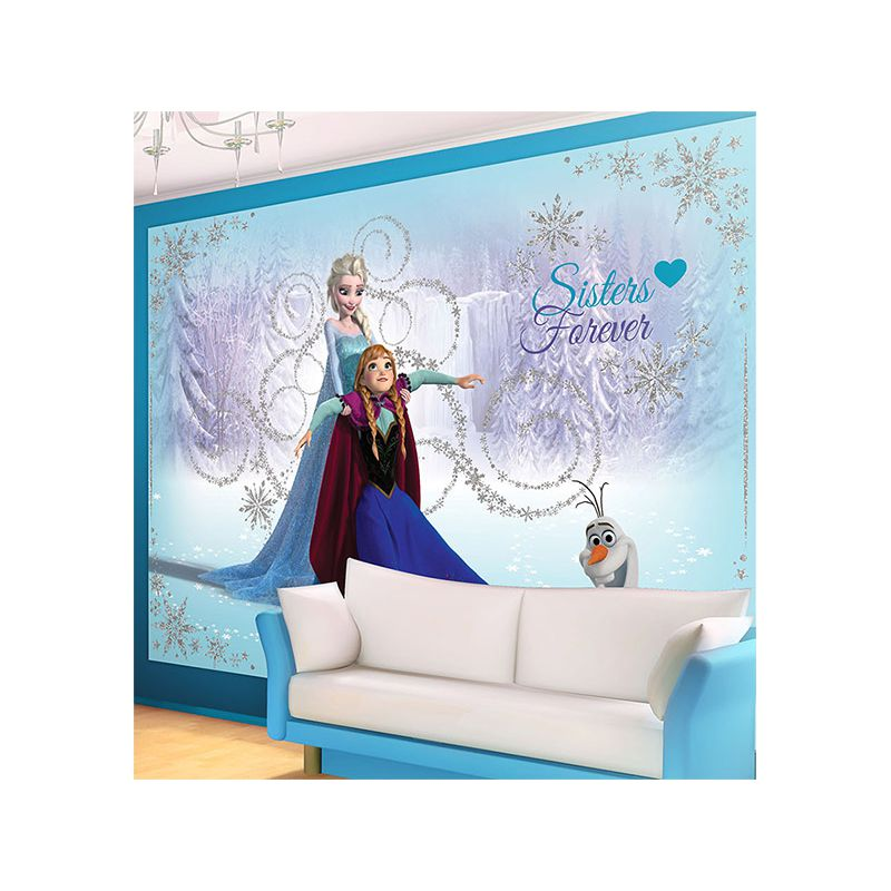 reine des neiges fresque murale pour d co chambre enfant. Black Bedroom Furniture Sets. Home Design Ideas