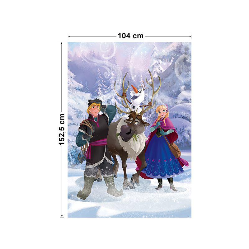D coration murale papier reine des neiges 184x254 cm - Frise reine des neiges ...