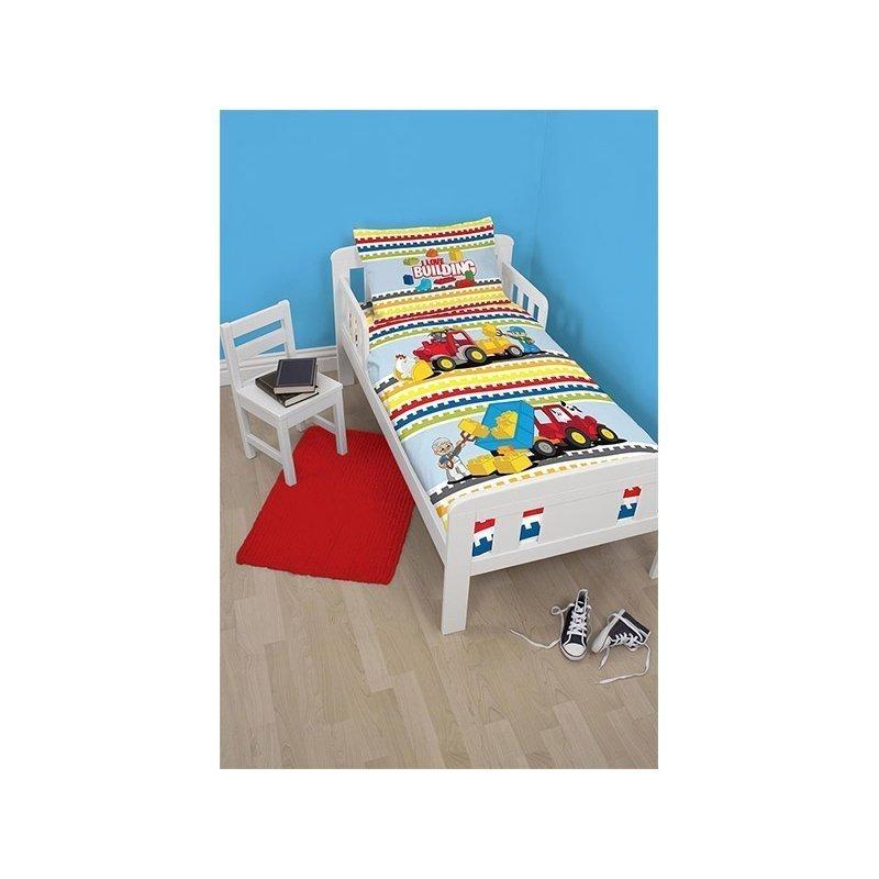 housse de couette lego duplo pour petit lit 120x150. Black Bedroom Furniture Sets. Home Design Ideas