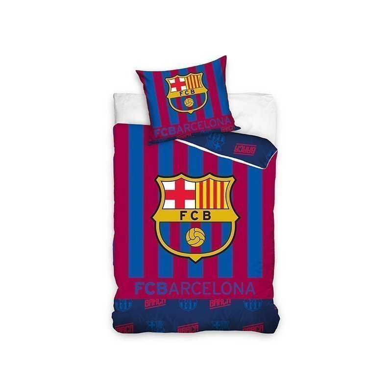 Housse couette fc barcelone football supporter - Housse de couette football 2 personnes ...