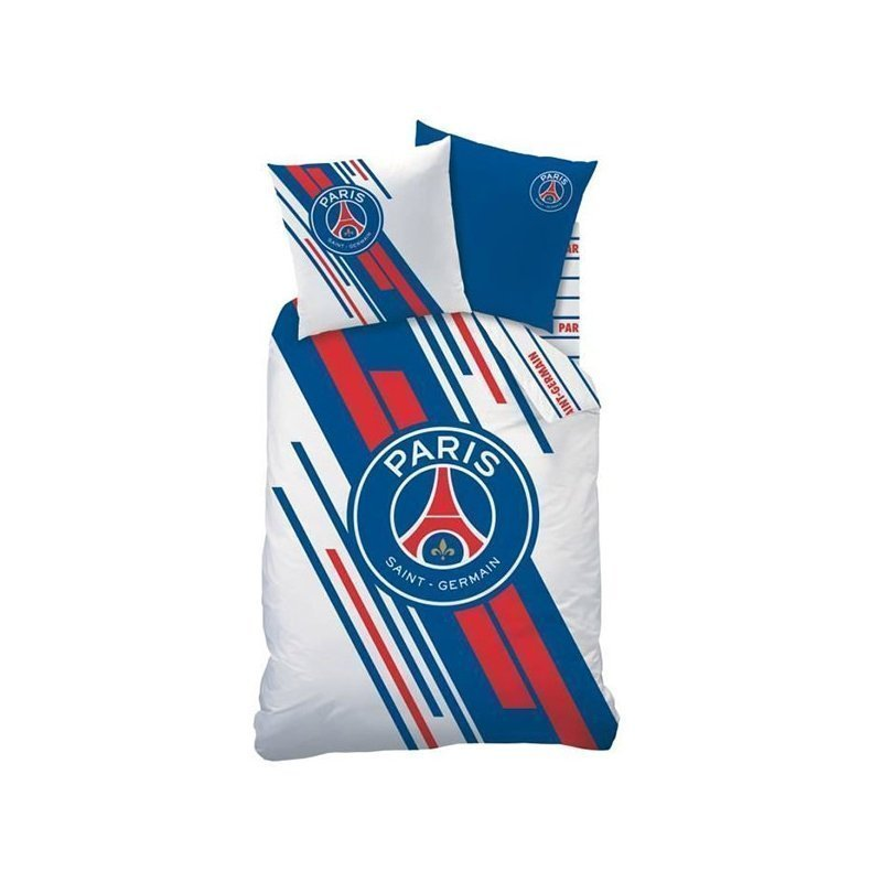 parure de couette psg stadium pour lit 1 personne. Black Bedroom Furniture Sets. Home Design Ideas