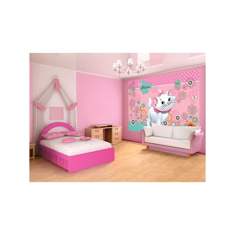 fresque murale marie des aristochats pour mur chambre fille. Black Bedroom Furniture Sets. Home Design Ideas