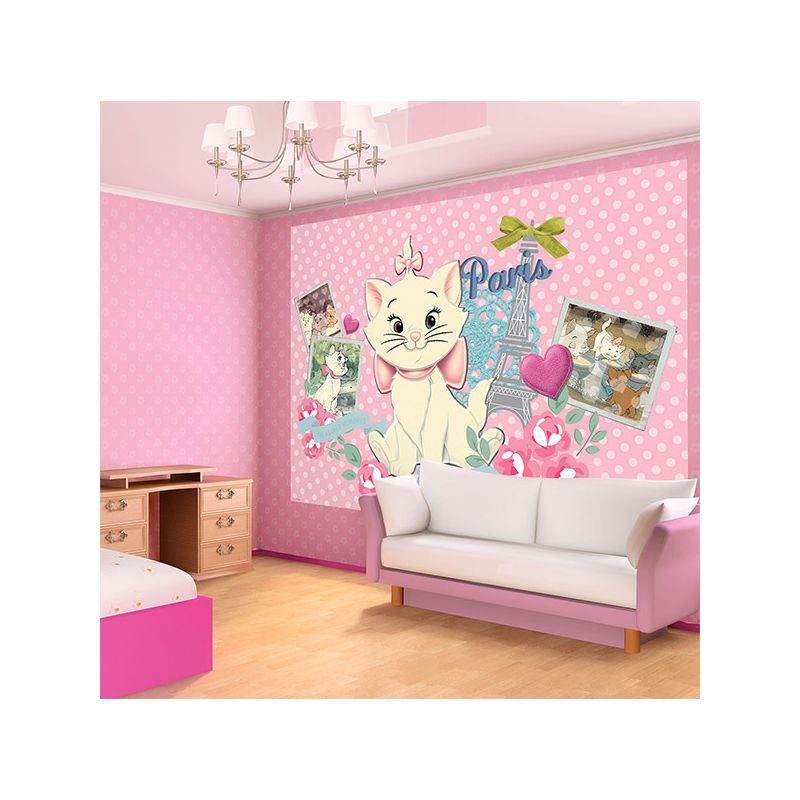 fresque murale marie des aristochats pour mur chambre fille. Black Bedroom Furniture Sets. Home Design Ideas