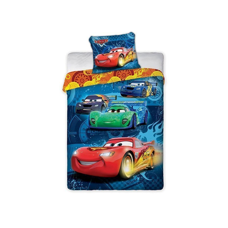 parure pour lit enfant disney cars bleu 140x200. Black Bedroom Furniture Sets. Home Design Ideas