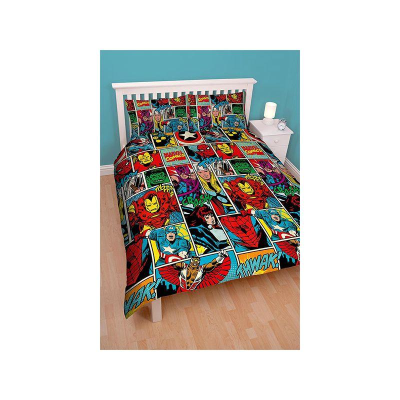 housse de couette double marvel comics strike 200x200. Black Bedroom Furniture Sets. Home Design Ideas