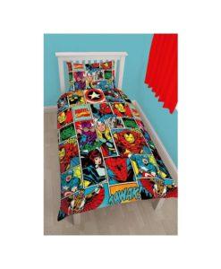 Housse de couette Marvel Comics pour 1 personne - 140x200 cm