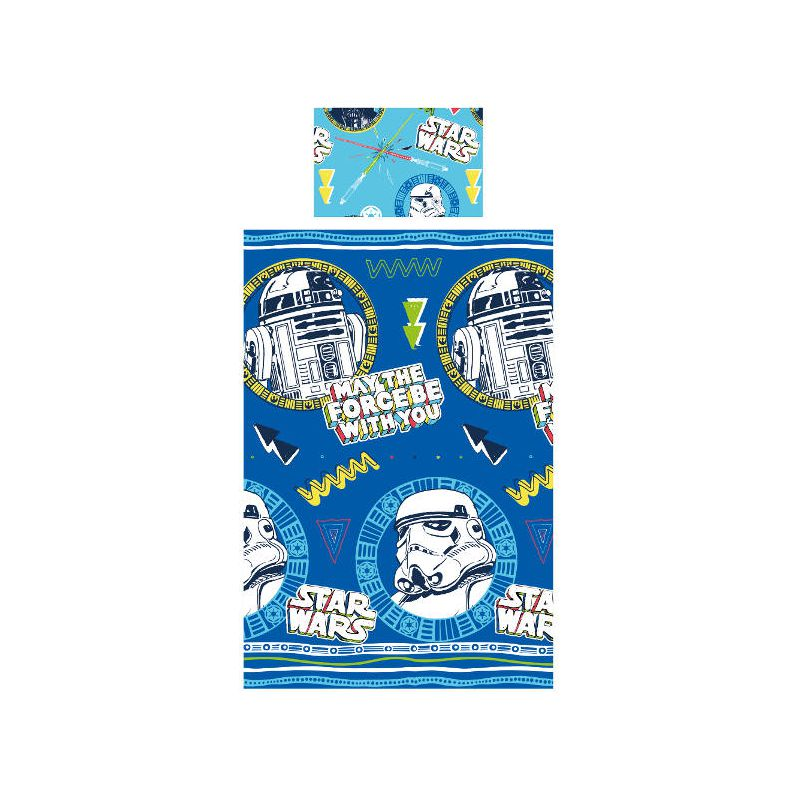 draps de lit star wars doodle storm troopers. Black Bedroom Furniture Sets. Home Design Ideas
