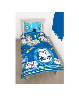 star wars guerre des toiles parure de lit housse de couette enfant d coration linge de. Black Bedroom Furniture Sets. Home Design Ideas