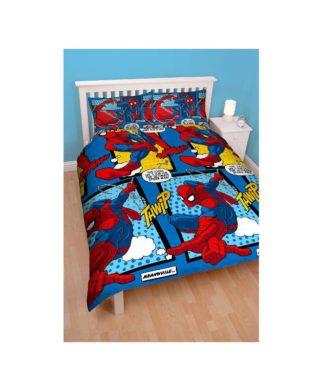 """Parure de lit double Spiderman """"Parker"""" 200x200 cm"""