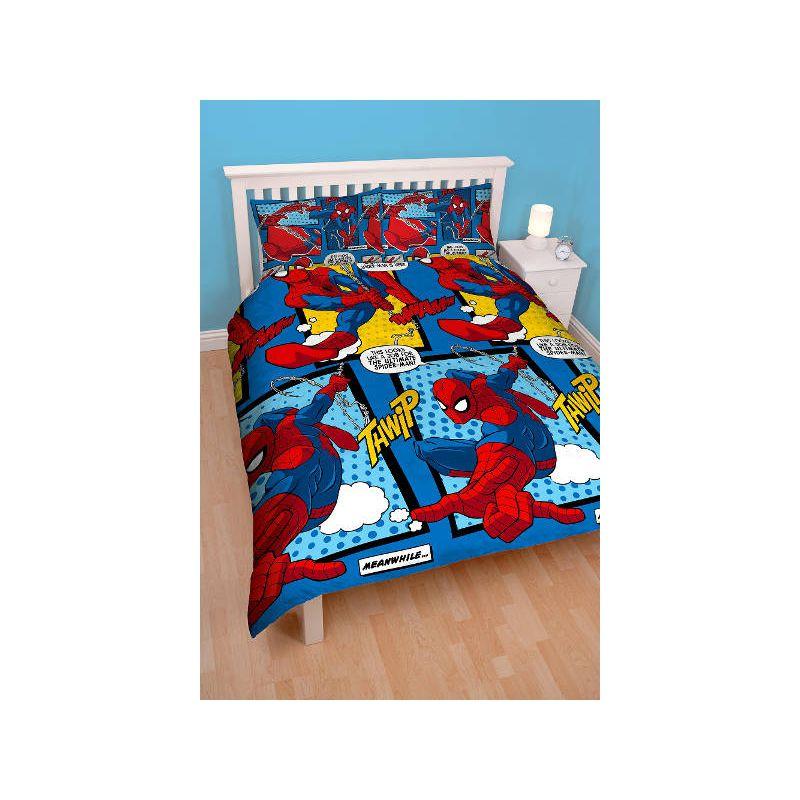 housse de couette spiderman double webhead 200x200. Black Bedroom Furniture Sets. Home Design Ideas