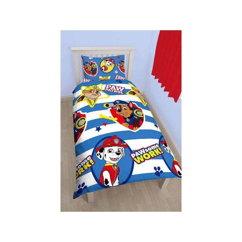 housse de couette pat patrouille pour enfant blanc et bleu. Black Bedroom Furniture Sets. Home Design Ideas