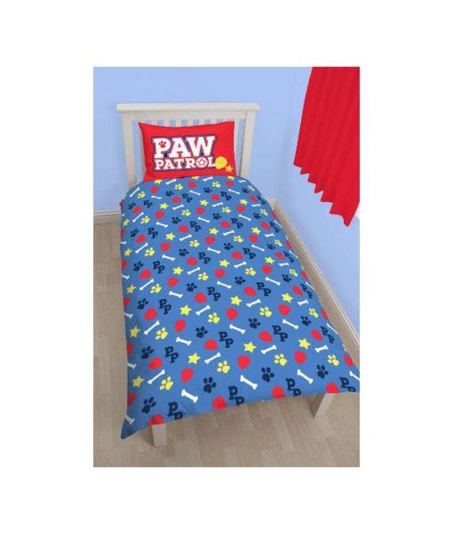 Parure de lit réversible Pat Patrouille 140x200 cm