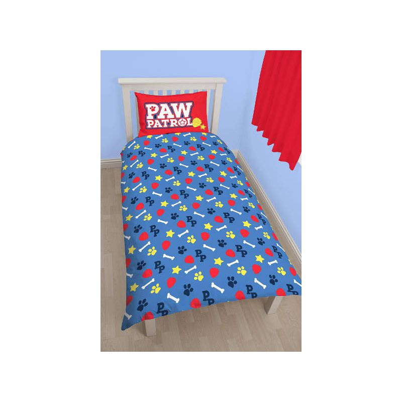 draps de lit pat patrouille pour lit enfant marcus chase. Black Bedroom Furniture Sets. Home Design Ideas
