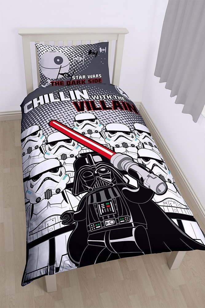 draps de lit lego star wars dark vador et troopers. Black Bedroom Furniture Sets. Home Design Ideas