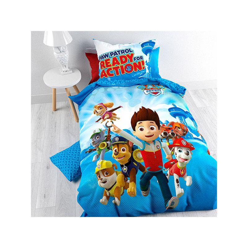 parure de lit pat patrouille pour enfant housse de. Black Bedroom Furniture Sets. Home Design Ideas