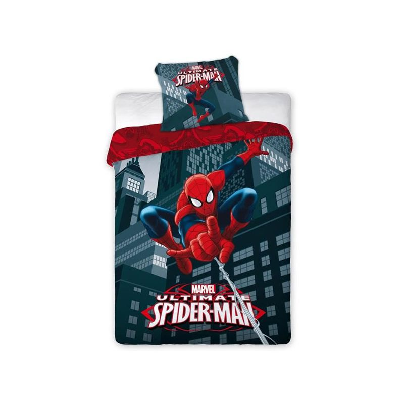 couette pour enfant spiderman lit 1 personne. Black Bedroom Furniture Sets. Home Design Ideas