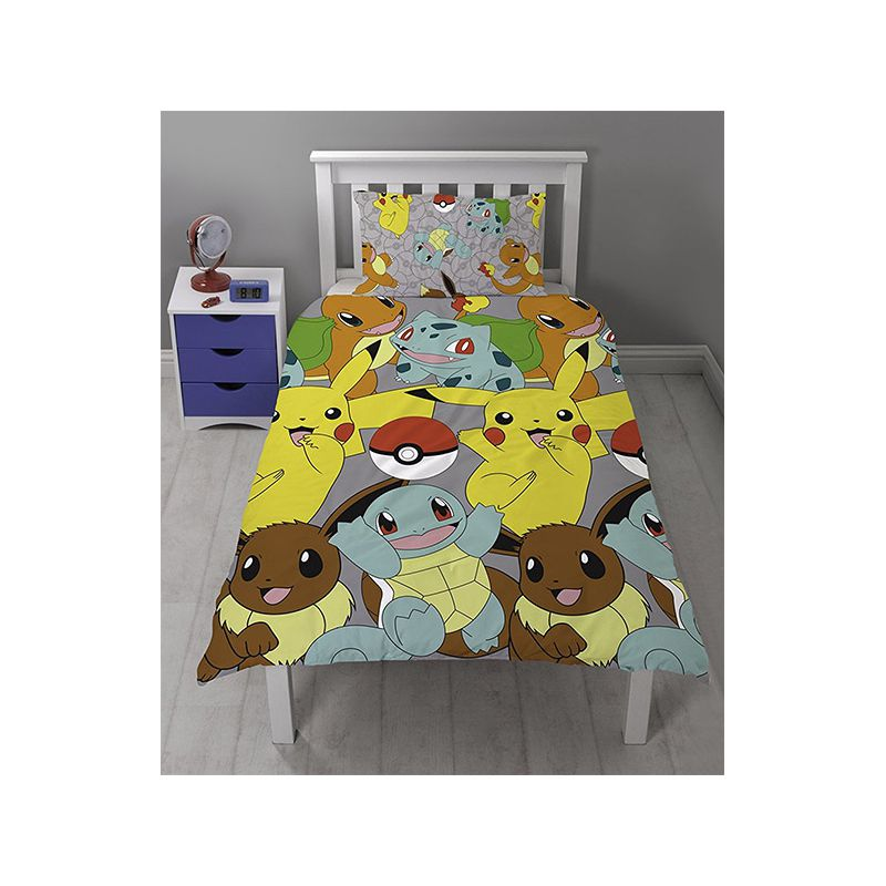 parure de lit pokemon pour enfant draps de lit. Black Bedroom Furniture Sets. Home Design Ideas