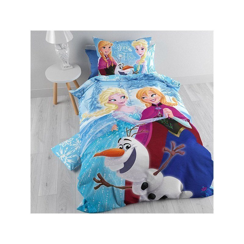 parure de lit enfant reine des neiges elsa anna et olaf. Black Bedroom Furniture Sets. Home Design Ideas