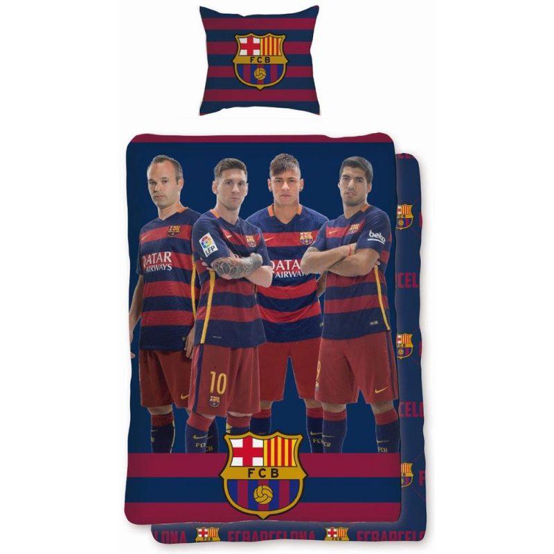 Housse de couette avec les joueurs du fc barcelone messi et neymar - Housse de couette barcelone ...