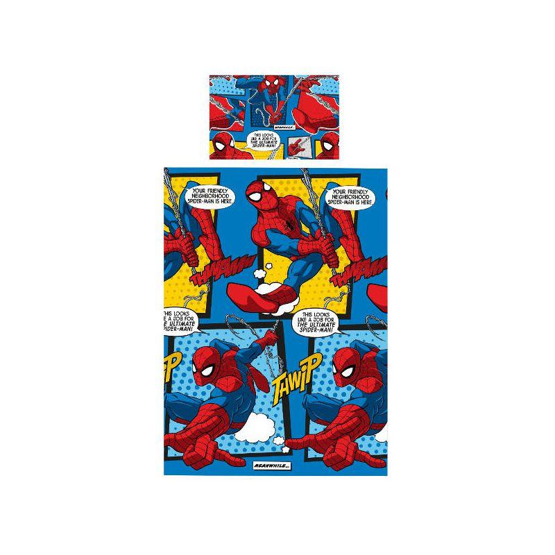 Housse de couette spiderman webhead lit 1personne for Housse de couette spiderman 200x200