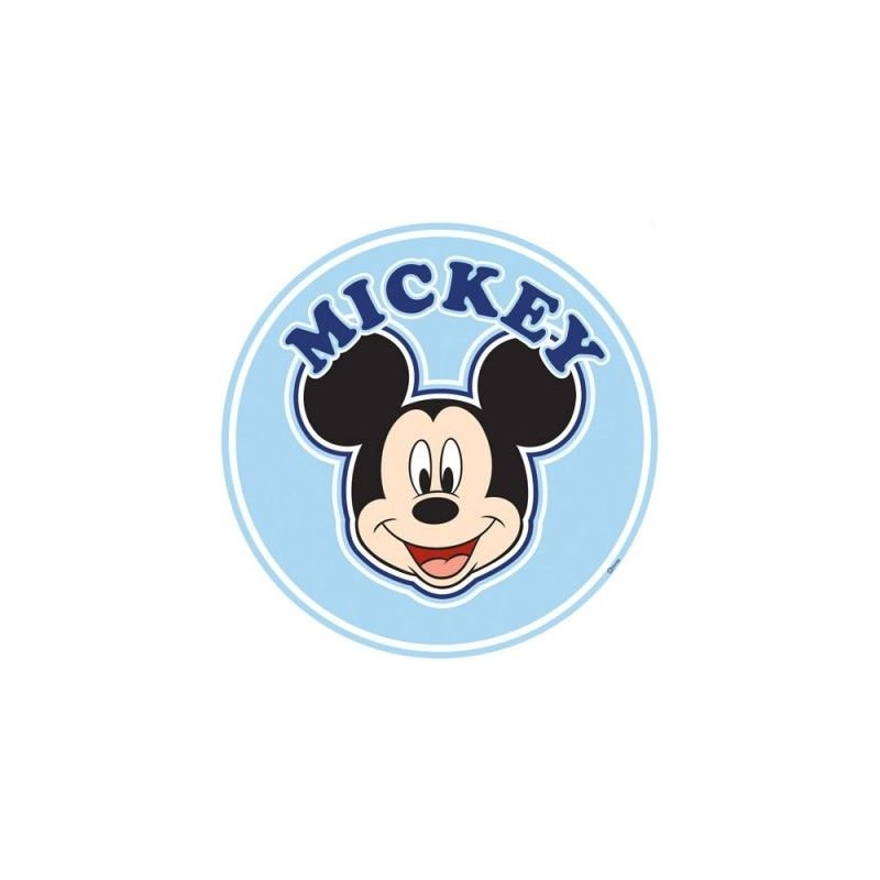 Sticker g ant mickey t te de lit adh sif et for Stickers mickey chambre