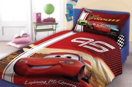 Parure De Lit Disney Cars Avec Flash McQueen En 100% Coton