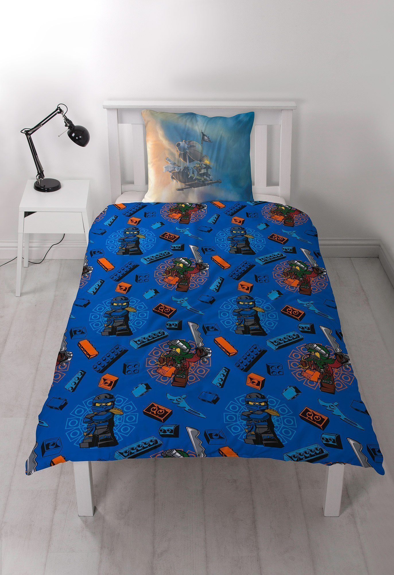 Housse de couette lego ninjago pour lit enfant for Housse de couette pour lit 140
