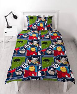 avengers parure de lit housse de couette enfant. Black Bedroom Furniture Sets. Home Design Ideas