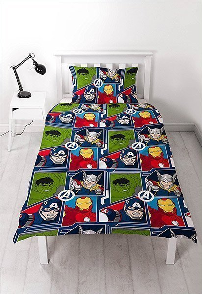housse de couette marvel avengers tech pour lit simple 1 personne. Black Bedroom Furniture Sets. Home Design Ideas