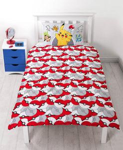 Pokemon linge de lit pikachu housse de couette for Housse couette garcon 200x200