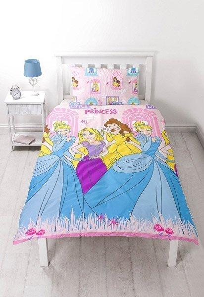 housse de couette simple princesses disney 140x200 raiponce. Black Bedroom Furniture Sets. Home Design Ideas