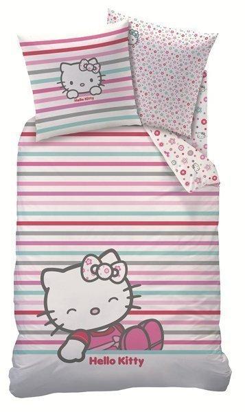 Linge de lit hello kitty pour lit 1 personne 140x200 cm - Parure de lit hello kitty 1 personne ...