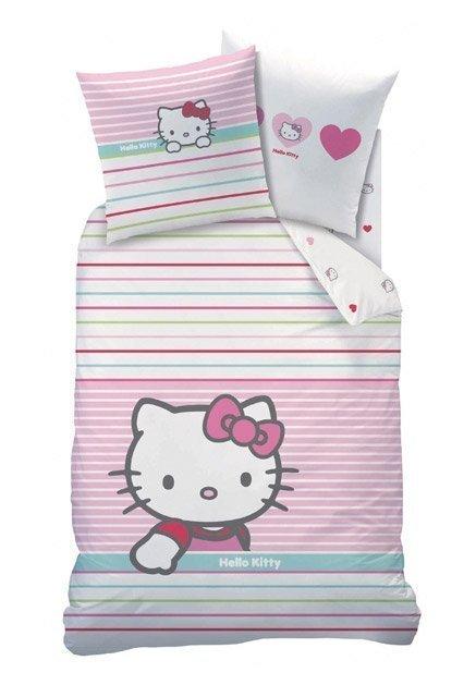 Parure de lit hello kitty mandarine polycoton pour enfant - Parure de lit bebe hello kitty ...