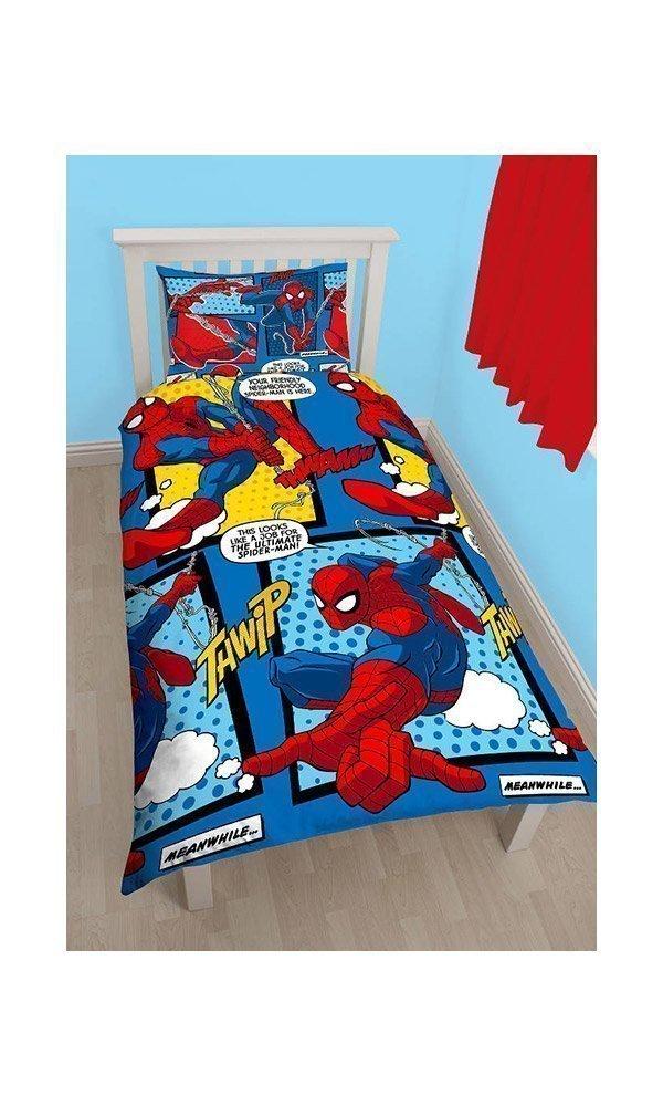 housse de couette spiderman webhead lit 1personne. Black Bedroom Furniture Sets. Home Design Ideas