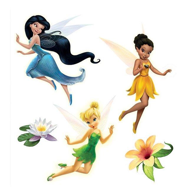 Stickers muraux adh sifs f e clochette disney fairies - Literie fee clochette ...