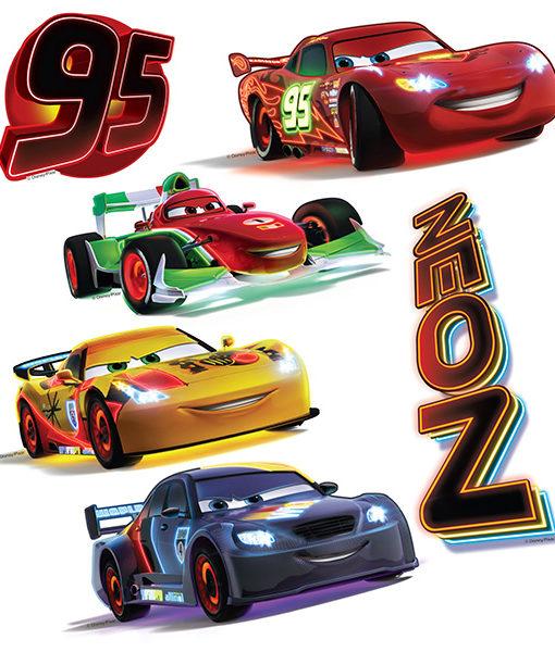 12 Stickers muraux Cars 2 - Flash et ses amis
