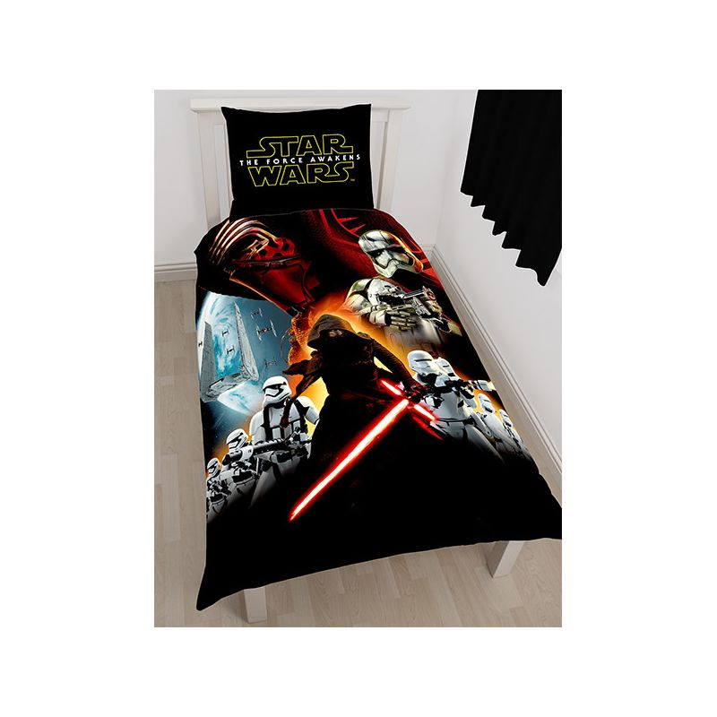 parure de lit star wars le r veil de la force pour enfant. Black Bedroom Furniture Sets. Home Design Ideas