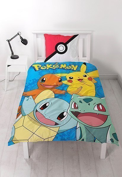 housse de couette pokemon catch pour enfant. Black Bedroom Furniture Sets. Home Design Ideas