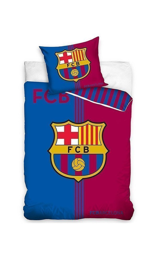 Housse de couette fc barcelone blaugrana 140x200 cm for Decoration murale juventus