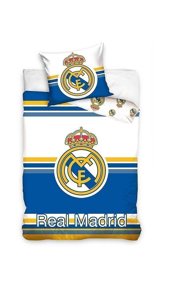 Housse de couette real madrid football pour lit simple 100 for Decoration murale juventus