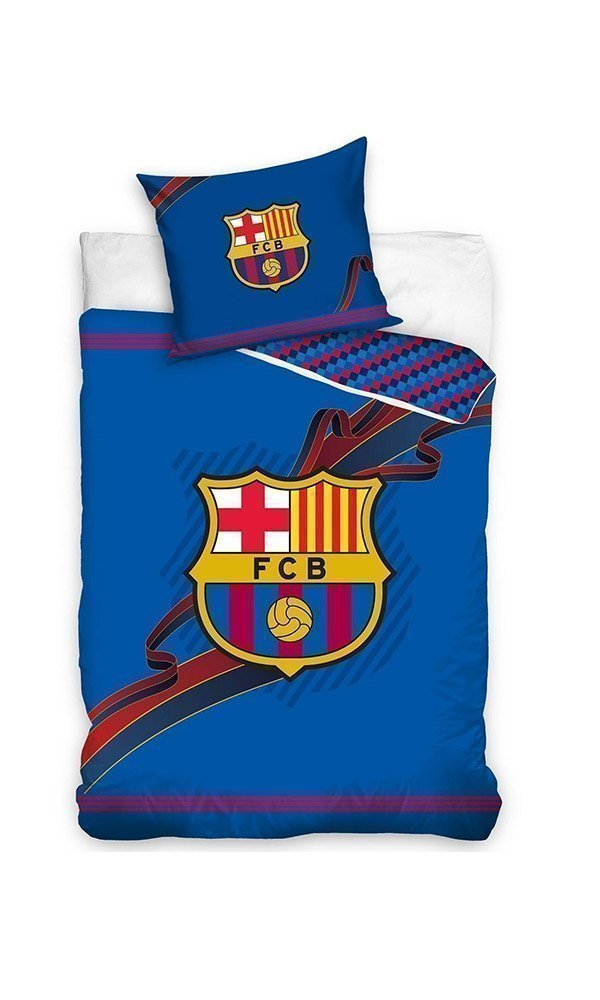 housse de couette fc barcelone blaugrana 140x200 cm. Black Bedroom Furniture Sets. Home Design Ideas