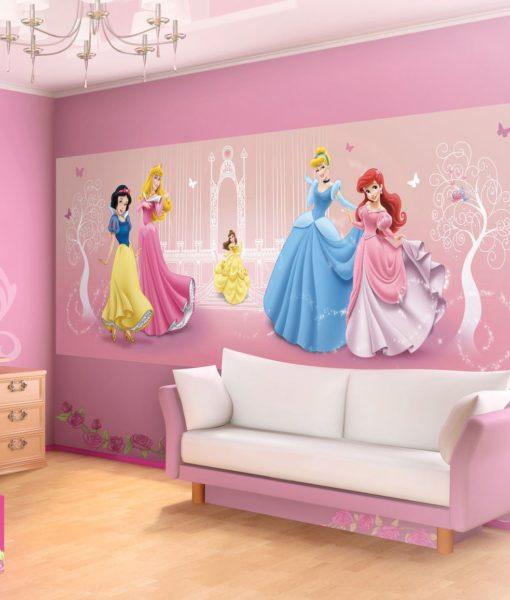 Fresque Murale Princesses Disney 250x104 cm pour Chambre d\'Enfant