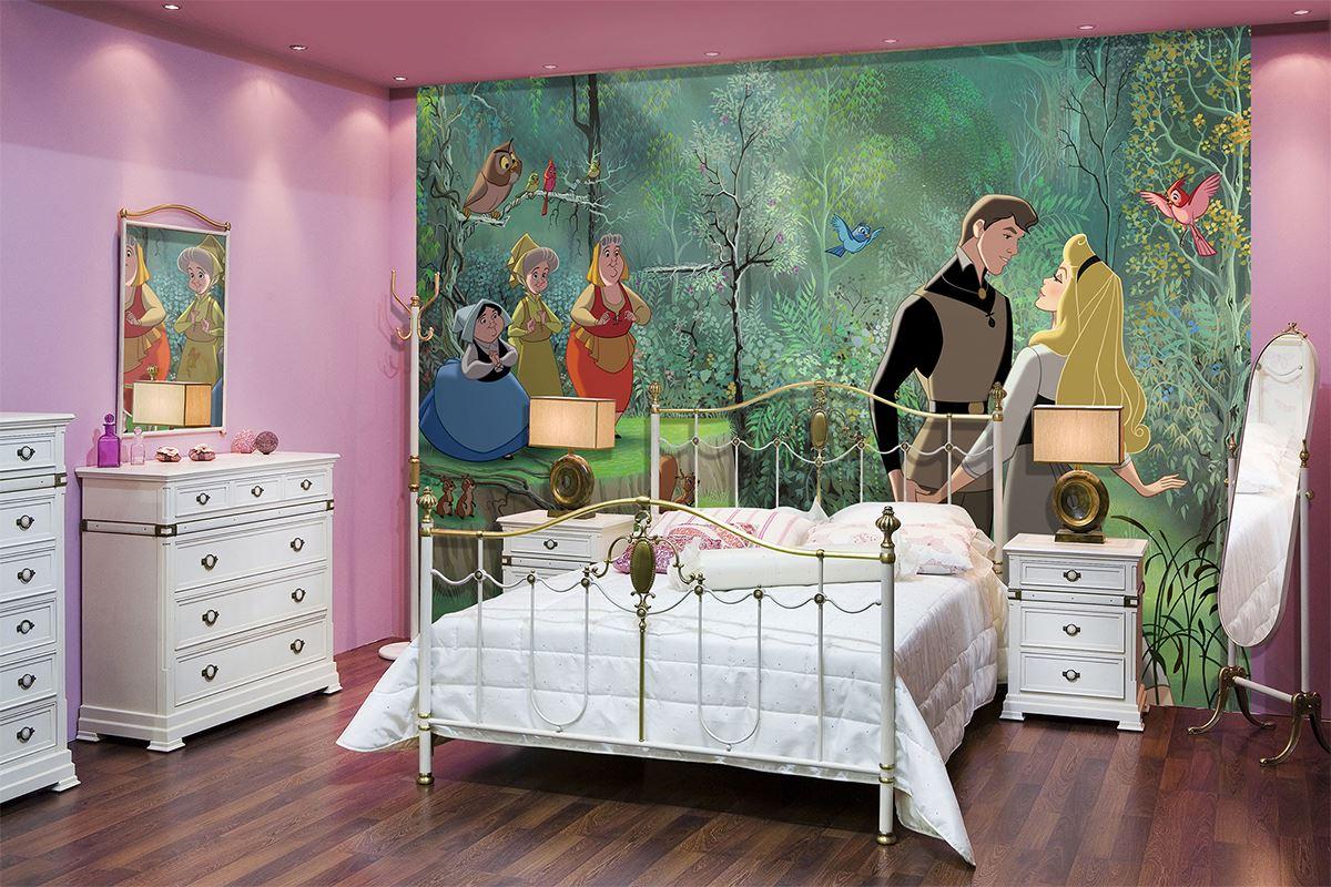 Fresque murale coller princesse aurore et les trois for Decoration murale a coller