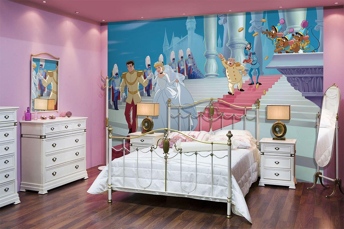 Papier peint disney cendrillon et le prince pour chambre d - Papier peint pour chambre d enfant ...