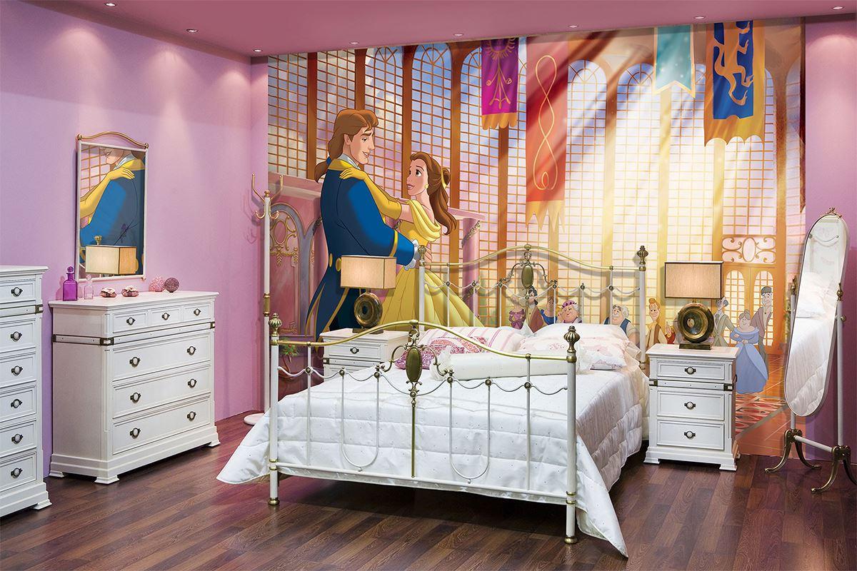 Papier peint la belle et la b te pour chambre d 39 enfant - Papier peint pour chambre d enfant ...