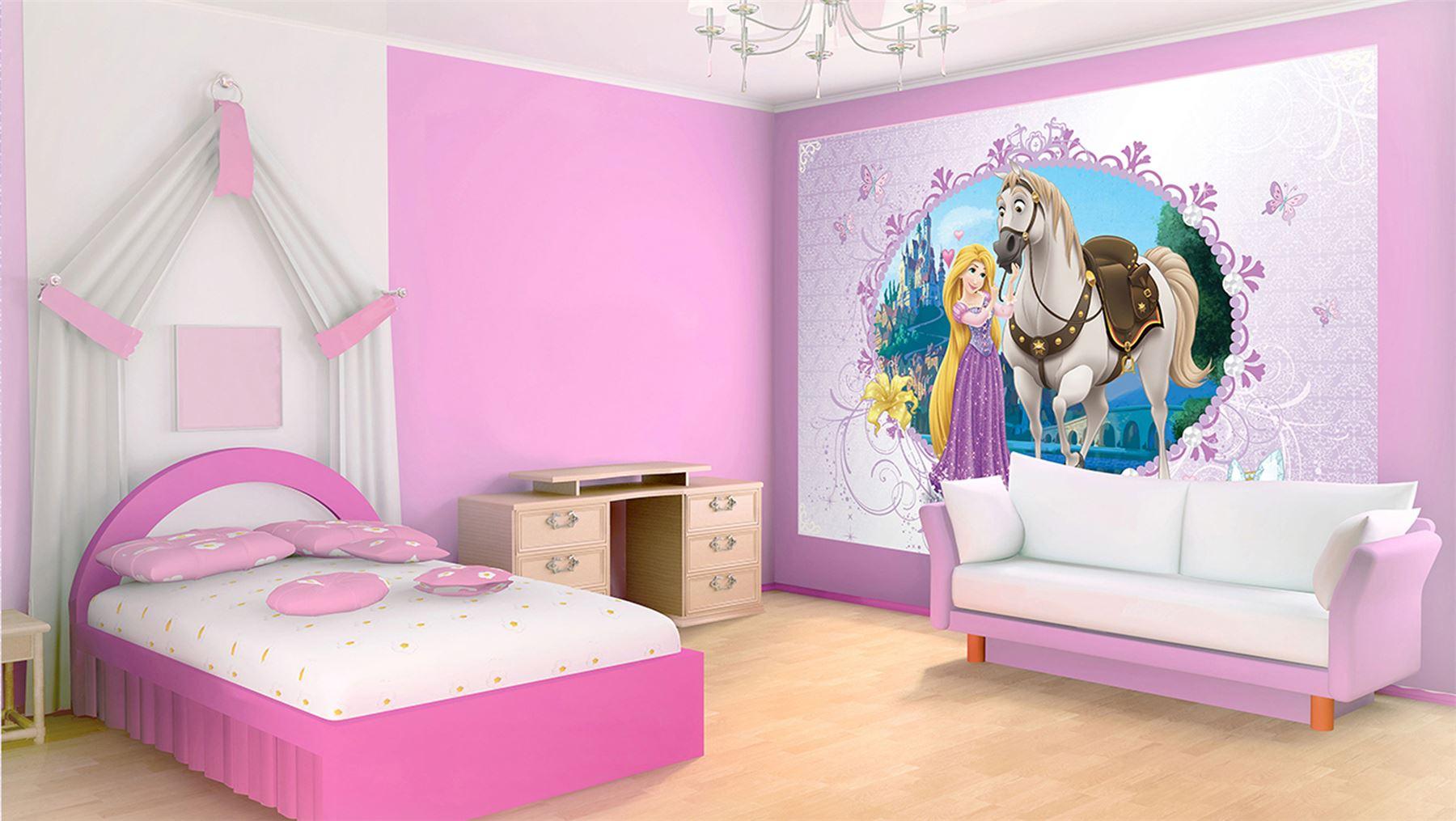 grande fresque murale raiponce maximus princesse disney lesaccessoires. Black Bedroom Furniture Sets. Home Design Ideas