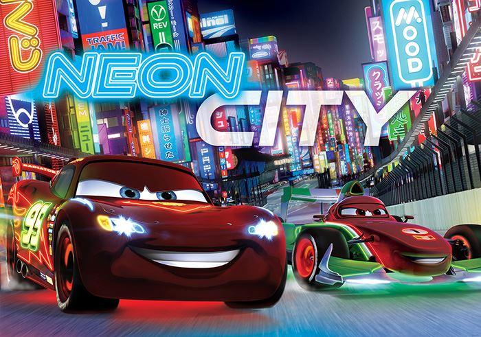 Disney cars papier peint neon city pour chambre d for Neon pour chambre