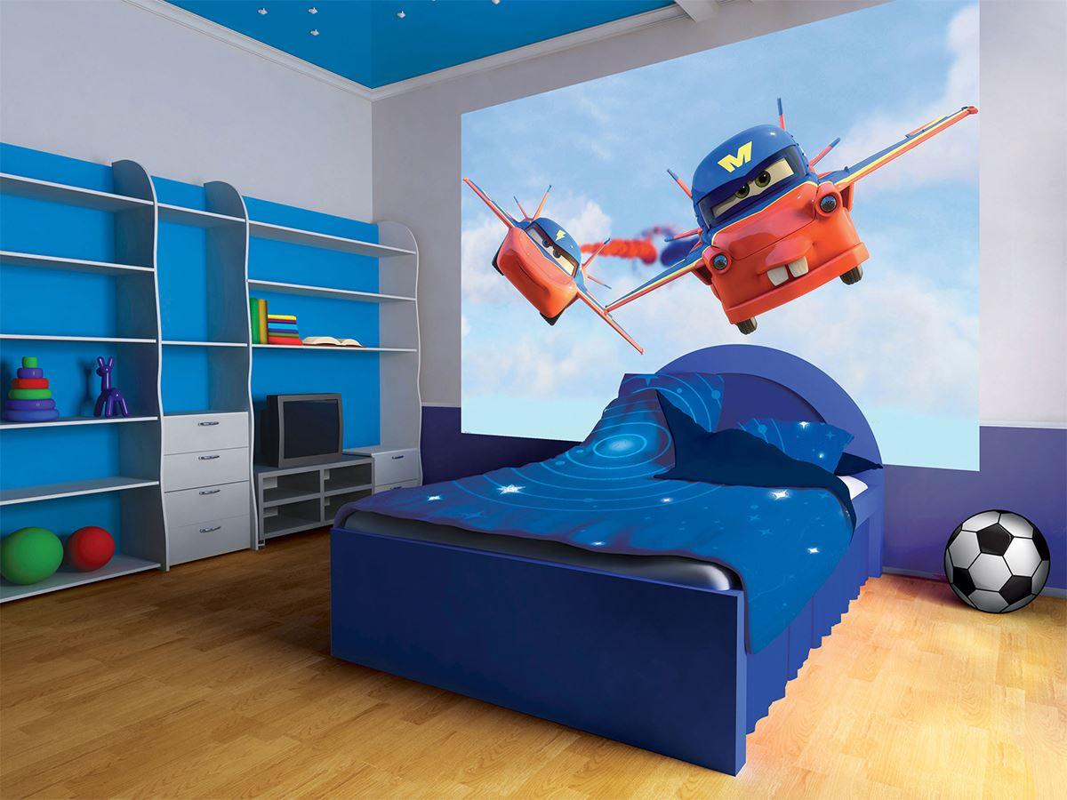 grand papier peint disney cars 208x146 cm martin volant lesaccessoires. Black Bedroom Furniture Sets. Home Design Ideas