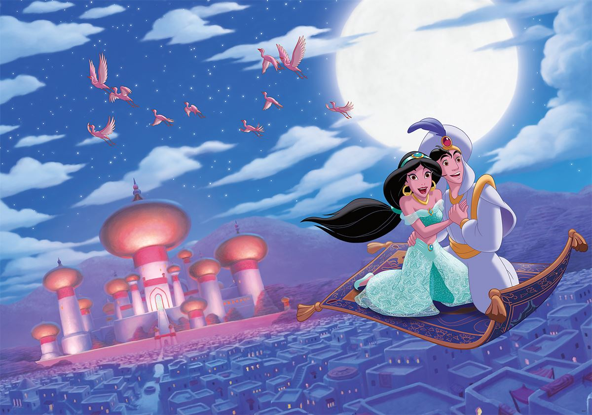 Grande Fresque Murale Aladdin Et Jasmine « Tapis Volant