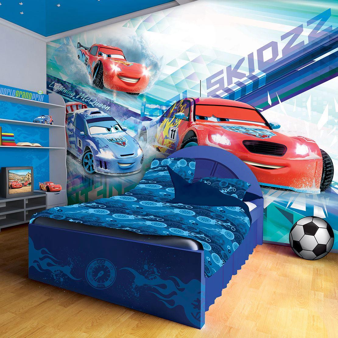 papier peint disney cars flash raoul plusieurs dimensions lesaccessoires. Black Bedroom Furniture Sets. Home Design Ideas